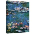 Claude Monet &#39;Water Lilies&#39; Wrapped Canvas Art