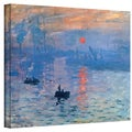Claude Monet 'Sunrise' Wrapped Canvas