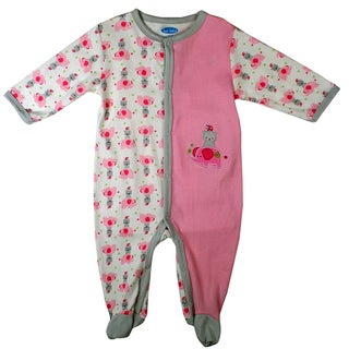 Bon Bebe Newborn Girl's Light Pink Kitty Coverall