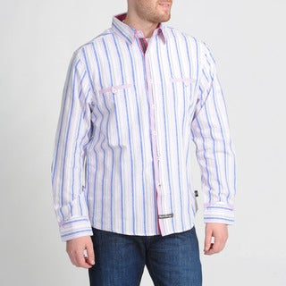 English Laundry by Christopher Wicks Men's 'The Salford' Pink Button-down Shirt