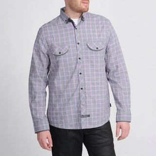 English Laundry Men's Purple Plaid Shirt