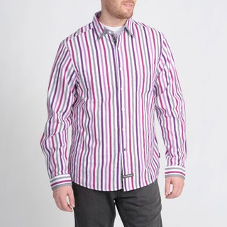 English Laundry Men's Purple Striped Shirt
