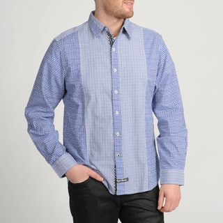 English Laundry Blue Plaid Button-front Shirt