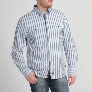 English Laundry Men's Grey Striped Shirt