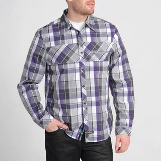 English Laundry Men's Purple Checkered Shirt