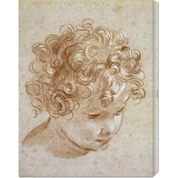 Niccolo Berrettoni 'The Head of a Child' Stretched Canvas Art