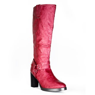 Fahrenheit Women's Red 'Harley' Riding Boots