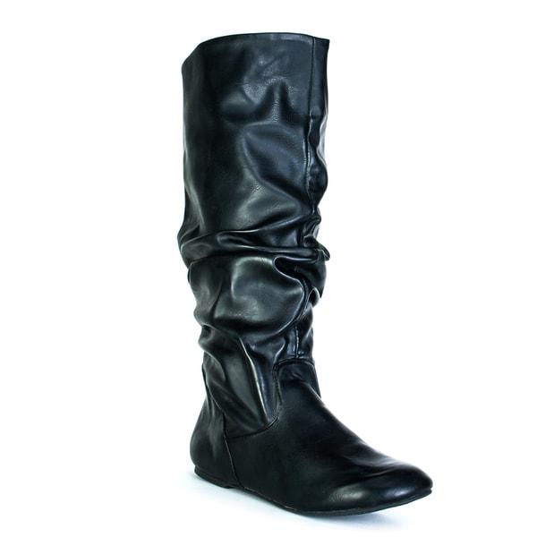 Fahrenheit Women's Black 'Izo' Slouch Boots