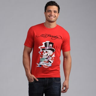 "Ed Hardy Men's Red ""Smokin' Brad' Tee Shirt"