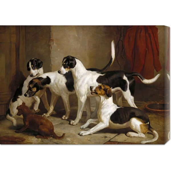 Big Canvas Co. Thomas Woodward 'The Puckeridge Foxhounds' Stretched Canvas Art