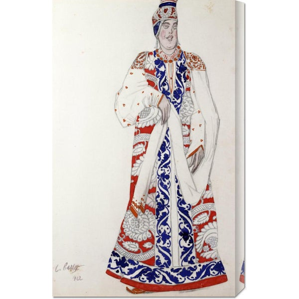 Leon Bakst 'Costume Design For The Production Moskwa' Stretched Canvas Art