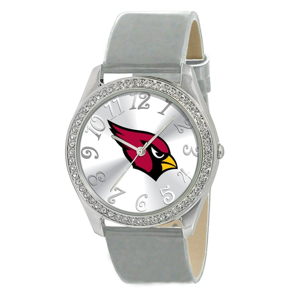 NFL Women's Glitz Classic Analog Patent Leather Watch