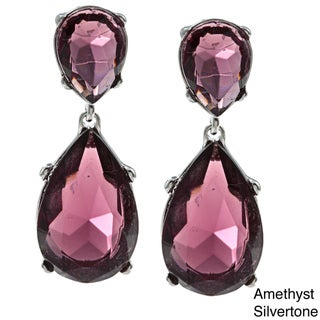 Kenneth Jay Lane Faceted Crystal Drop Earrings