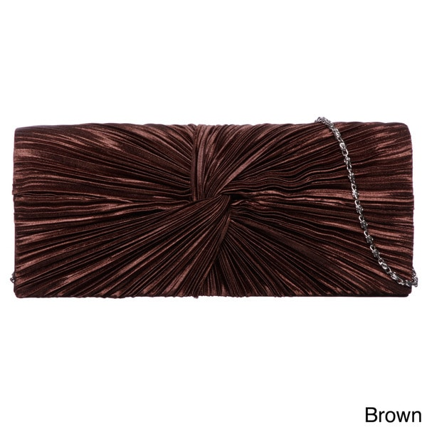 J. Furmani Satin Flap Clutch