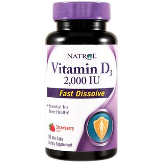 Natrol Vitamin D3 2000IU Fast Dissolve Tablets (Pack of 2)
