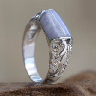 Sterling Silver 'Lily Maya' Jade Domed Ring (Guatemala)