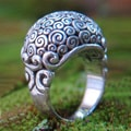 Sterling Silver 'Cloud Bubble' Ring (Indonesia)