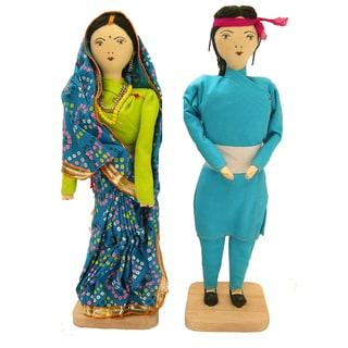 Handmade Primitive Maithali Dolls (Nepal)