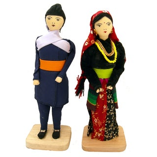 Handmade Gurung Couple Dolls (Nepal)