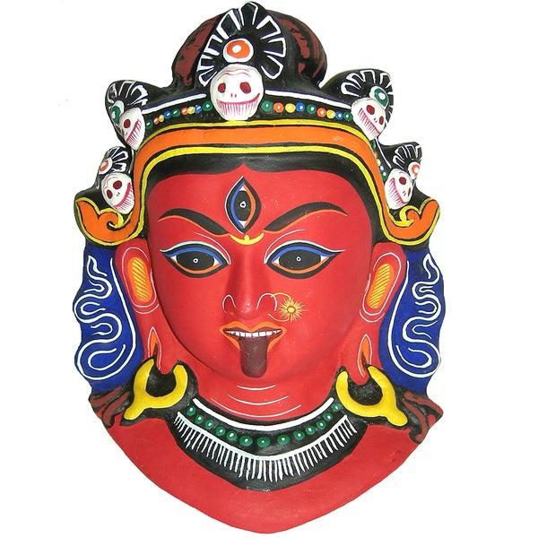 Kali Paper Mache Mask (Nepal)