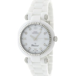 Swiss Precimax Women's White Ceramic Avant Diamond Watch
