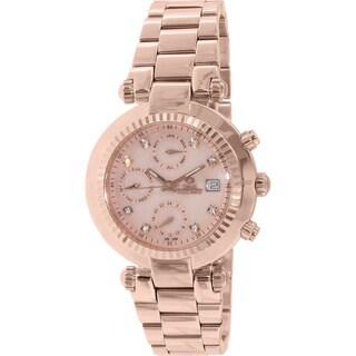 Swiss Precimax Women's Rose Goldtone Steel Watch