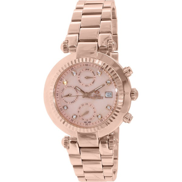 Swiss Precimax Women's Rose Goldtone Steel Watch