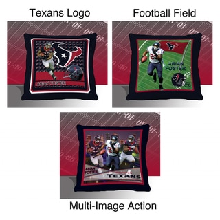 Houston Texans Arian Foster Toss Pillow