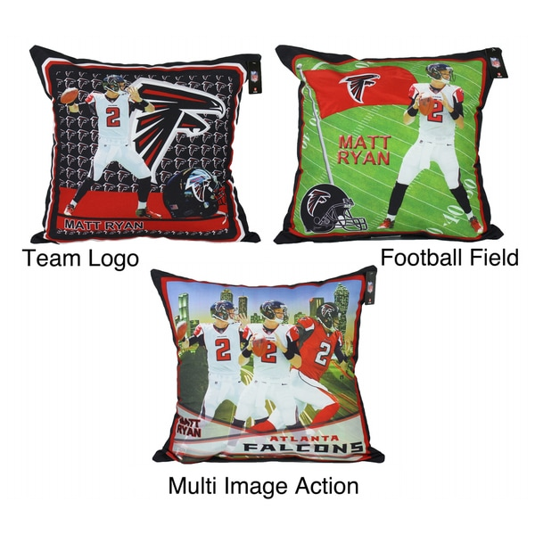 NFL BiggShot Atlanta Falcons Matt Ryan Decorative Toss Pillow