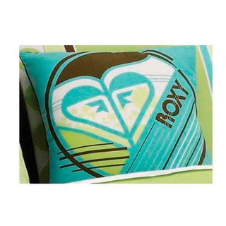 Roxy Kelly Colorblock Logo Decorative Pillow