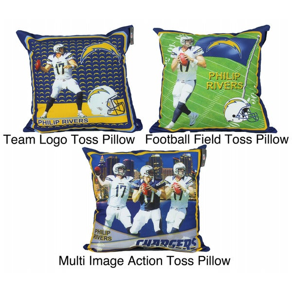 San Diego Chargers Philip Rivers Toss Pillow