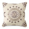 Florin Decorative Cream Throw Pillow