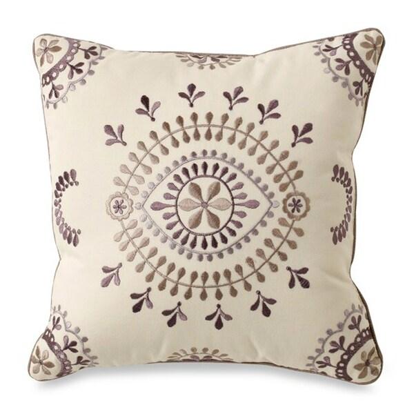 Florin Decorative Cream Throw Pillow