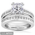 14k Gold Moissanite and 1ct TDW Diamond Bridal Ring Set (H-I, I1-I2)