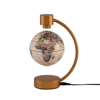 Stellanova 4-inch Levitating Antique Ocean Globe