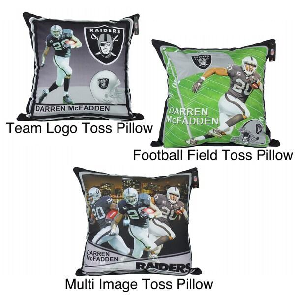 Oakland Raiders Darren Mcfadden Toss Pillow