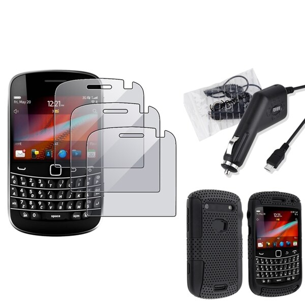 INSTEN Hybrid Phone Case Cover/ Protector/ Car Charger for BlackBerry Bold 9900