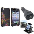 BasAcc Case/ Dashboard Mount/ Car Charger for Apple iPhone 3G/ 3GS