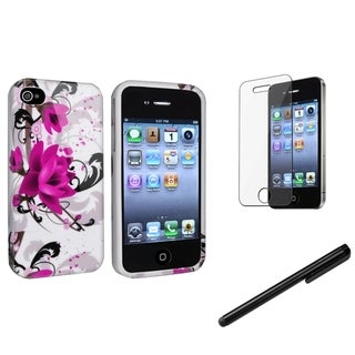BasAcc TPU Case/ Stylus/ LCD Protector for Apple iPhone 4/ 4S