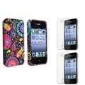BasAcc TPU Rubber Case/ Screen Protector for Apple iPhone 4/ 4S