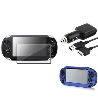 INSTEN Aluminum Case Cover/ Protector/ Car Charger for Sony Playstation Vita