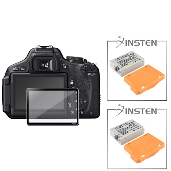 INSTEN Battery/ Glass Screen Protector for Canon EOS 600D