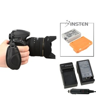INSTEN Battery/ Chargers/ Strap for Canon 550D/ 600D/ Rebel T3i/ T2i