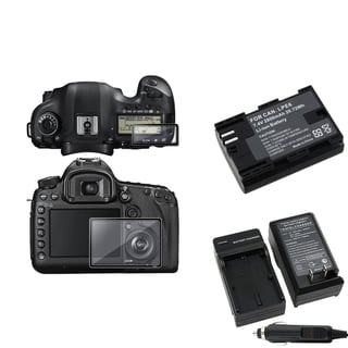 BasAcc Protector Glass/ Chargers/ Battery for Canon EOS 5D Mark III