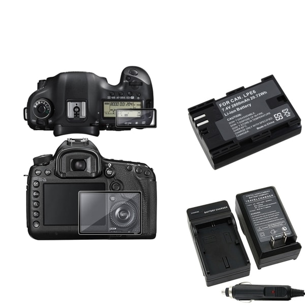 INSTEN Protector Glass/ Chargers/ Battery for Canon EOS 5D Mark III