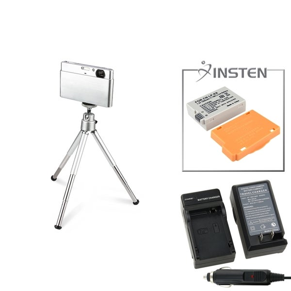 INSTEN Battery/ Charger Set/ Mini Tripod for Canon EOS 600D/ T3i/ T2i