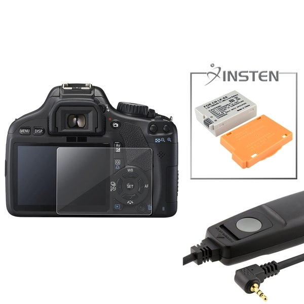 INSTEN Battery/ Remote Cord/ Protector for Canon EOS Rebel T2i
