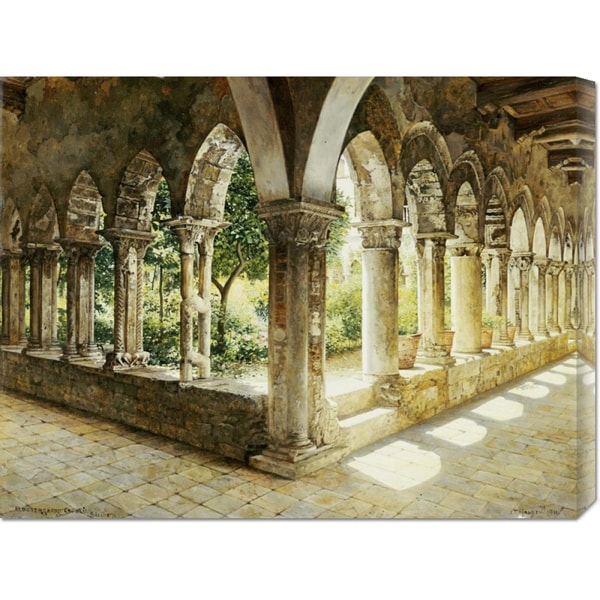 Josef Theodor Hansen 'Cefalu Cloisters, Sicily' Stretched Canvas Art