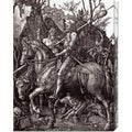 Albrecht Durer 'Knight, Death and The Devil' Stretched Canvas Art