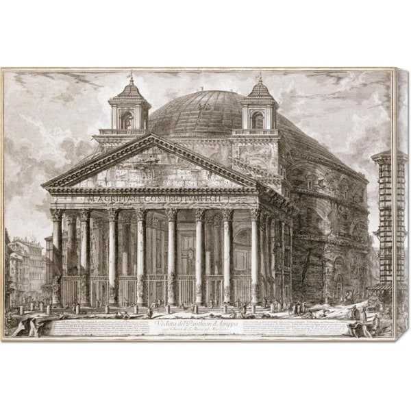 Giovanni Battista Piranesi 'A View of The Pantheon, Rome' Stretched Canvas Art